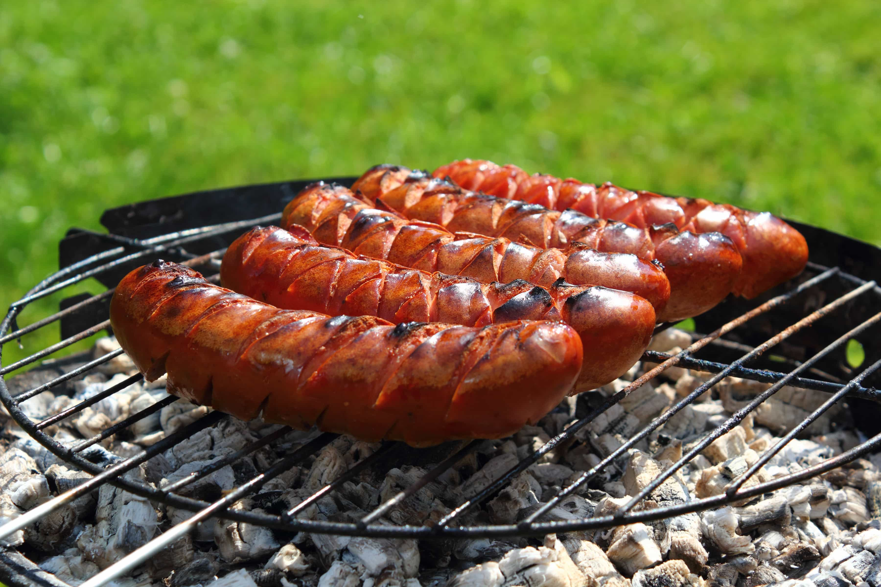 Grilled Barbecue Sauced Smoked Sausage Recipe