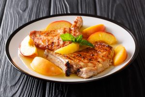 Peach and Whiskey-Glazed Pork Chops Recipe