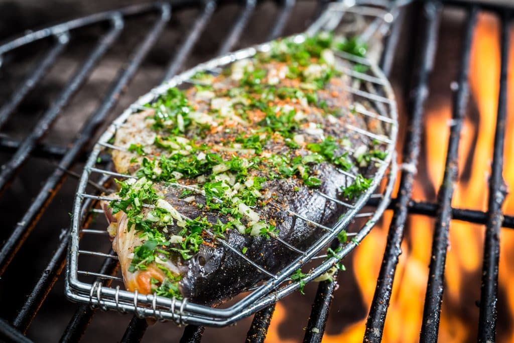 How to Grill fish with the skin on