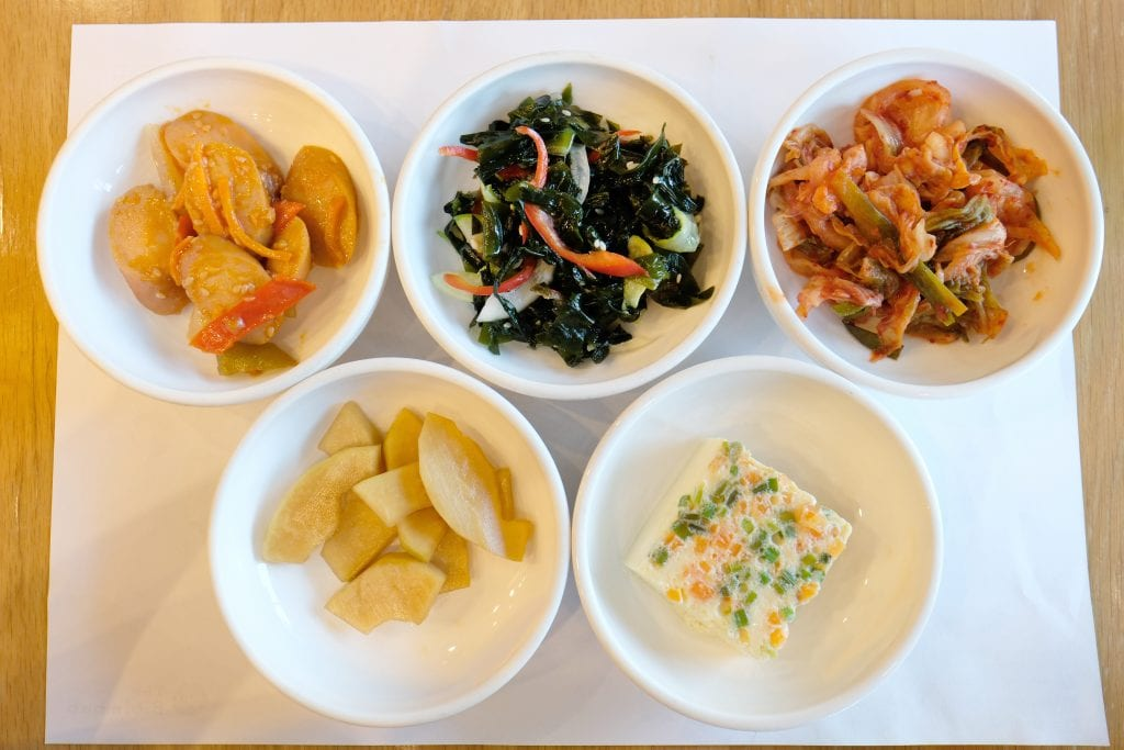 Korean BBQ Banchan side dishes