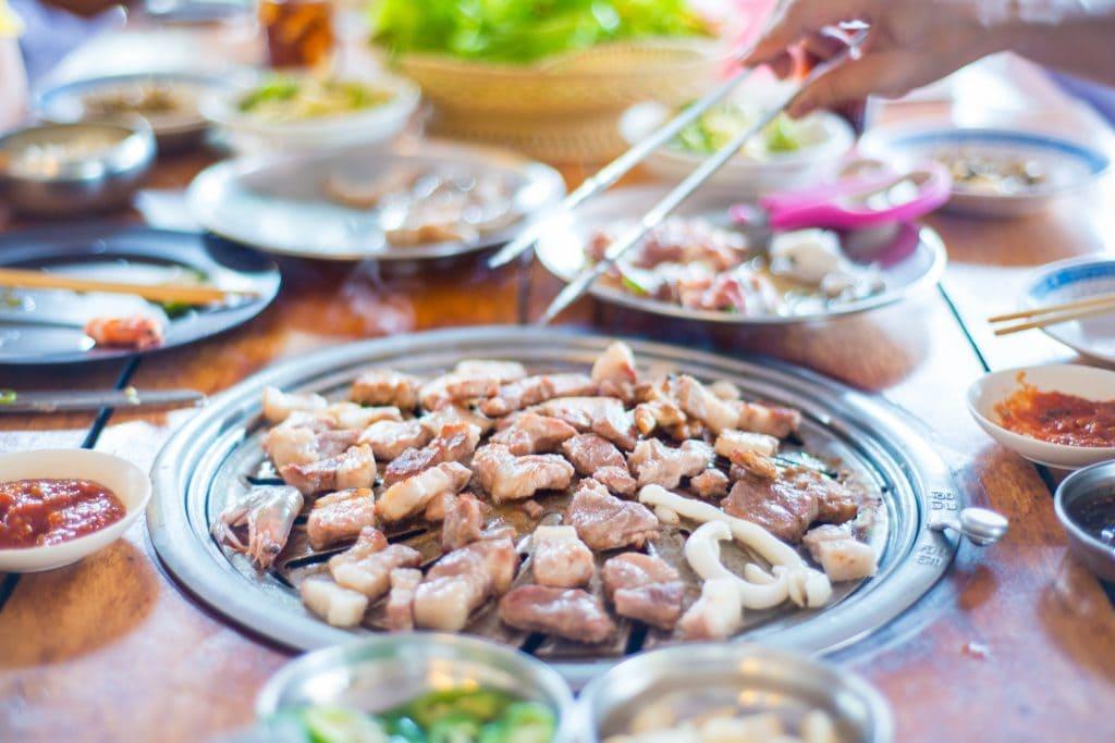 Pork in Korean BBQ Restaurant